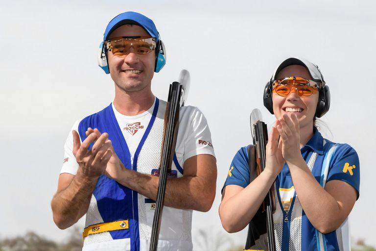 Los hermanos Melisa y Federico Gil compiten en la categoría skeet