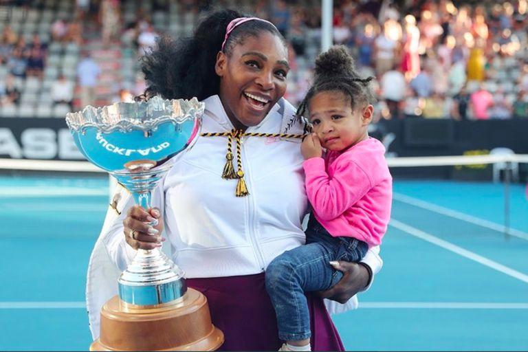 """""""Es la mini Serena Williams"""": la tierna foto de la tenista con su hija"""