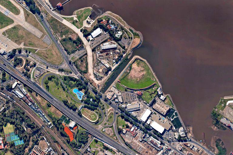 Una vista aérea del predio de Costa Salguero y Punta Carrasco