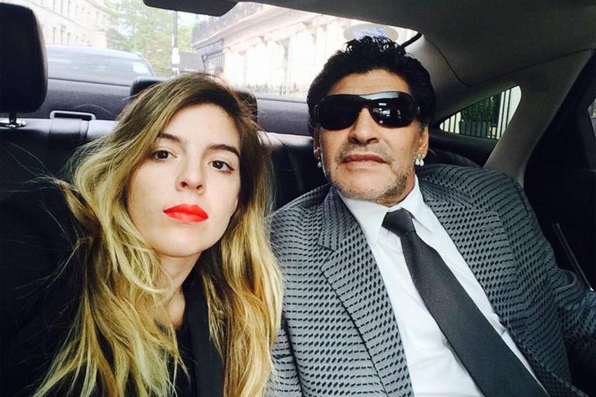 Dalma Maradona habla en presente cuando se refiere a Diego Maradona, su padre