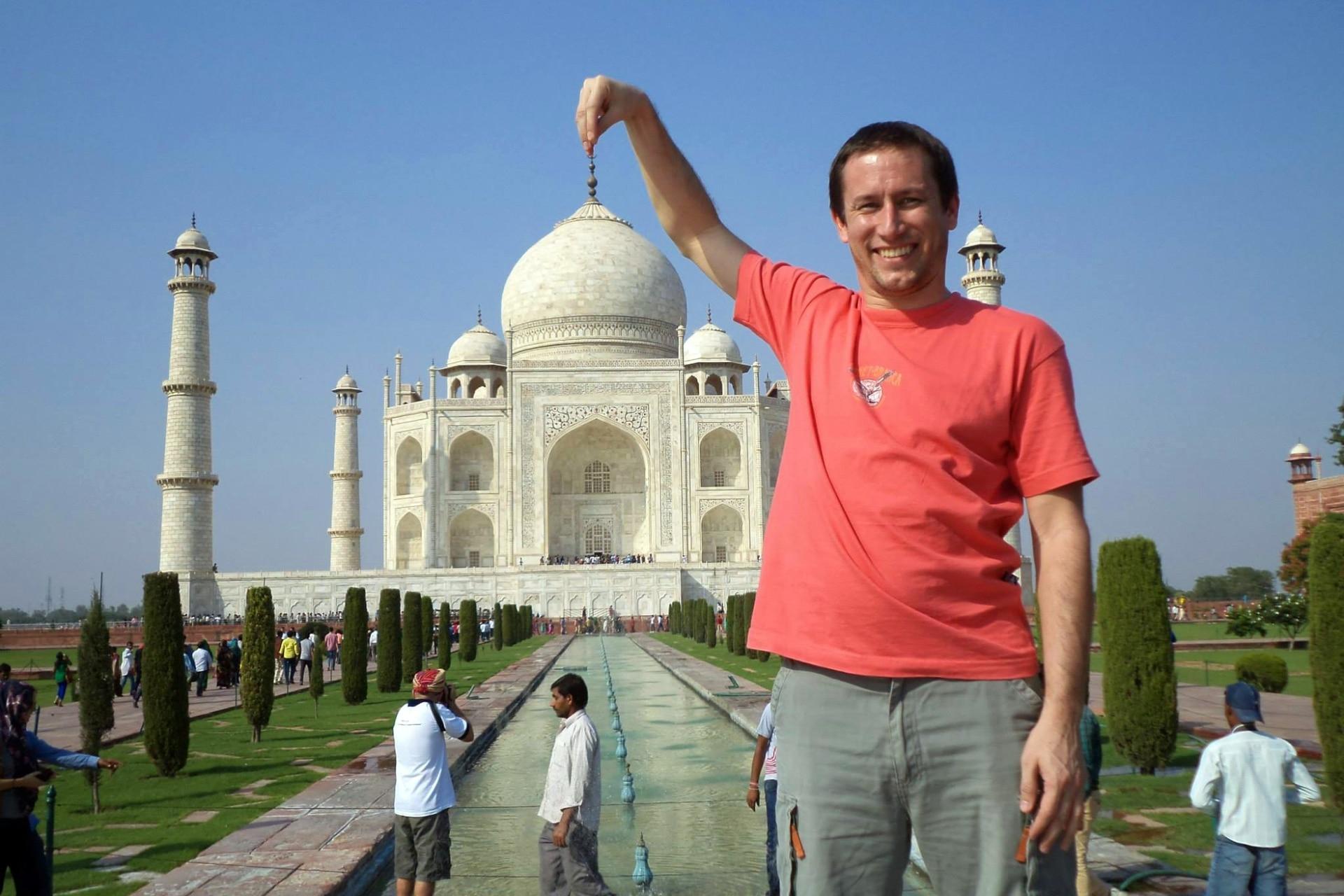 Raúl, en Taj Mahal.