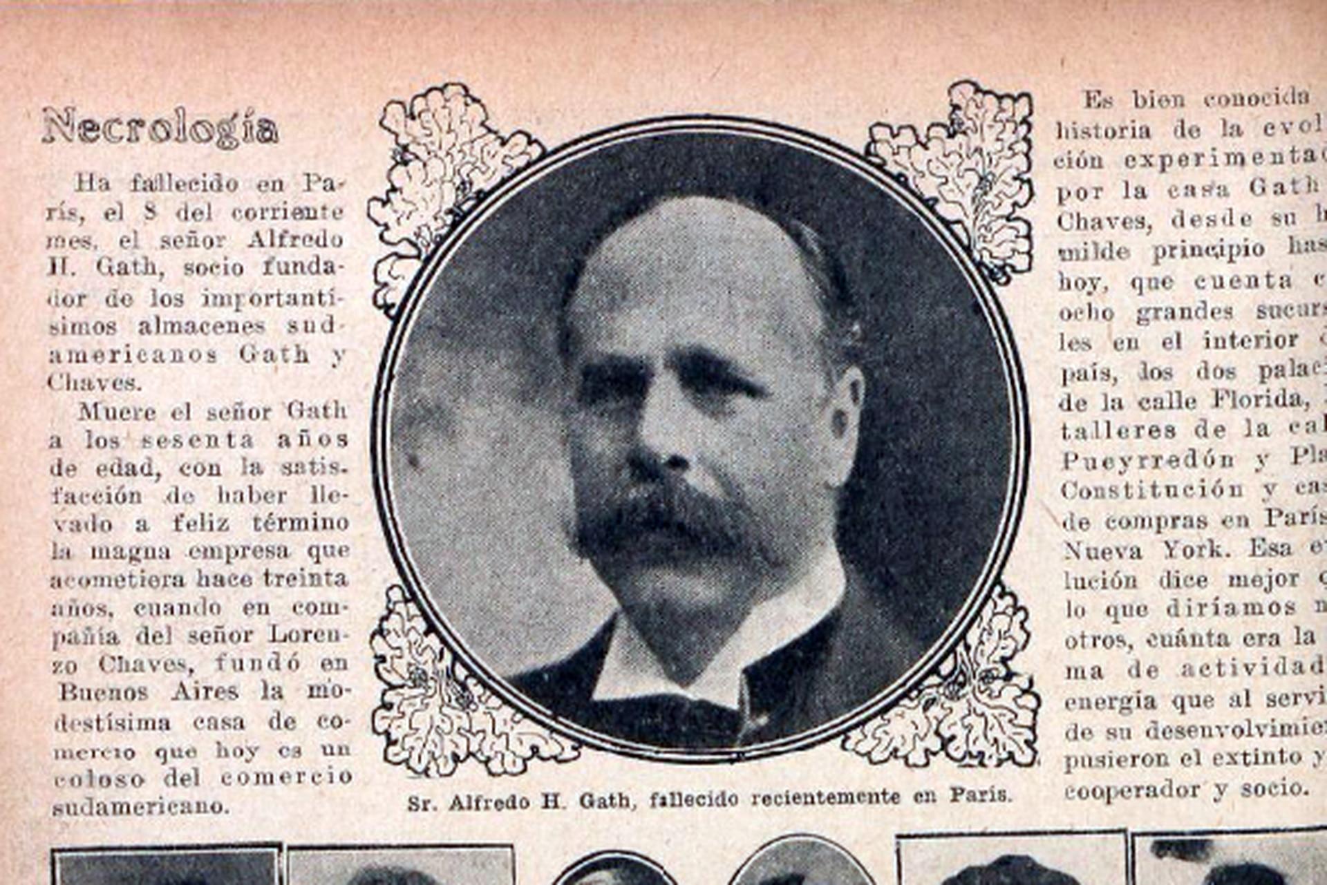 La necrológica en Fray Mocho en diciembre de 1916. Varios medios informaron que murió en París, pero según los familiares y los datos del cementerio de la Recoleta, sus restos llegaron desde Suiza.