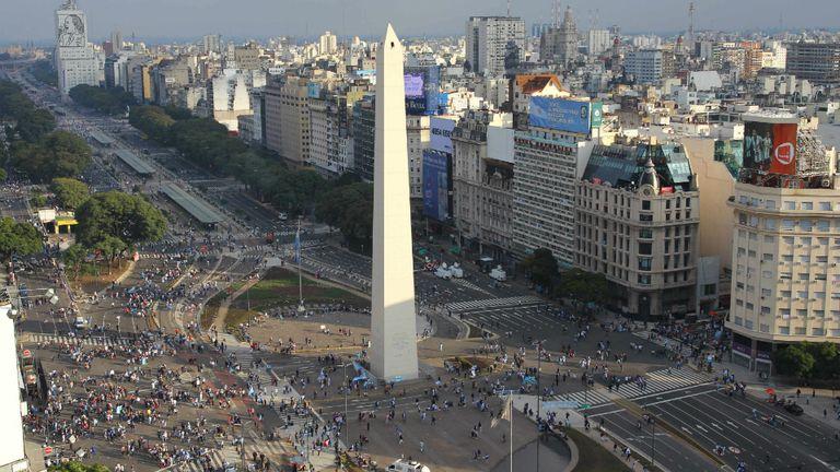 El Obelisco, sede de la apertura de los Juegos de la Juventud