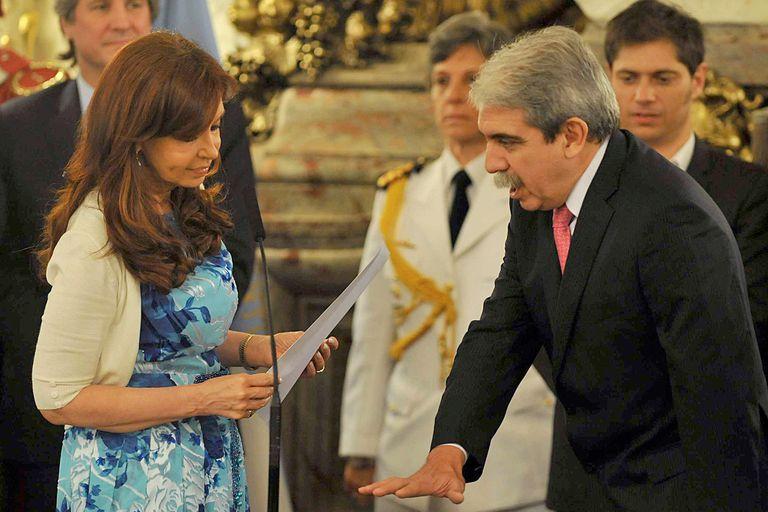 El 18 de diciembre de 2014, Aníbal Fernández presta juramento en su tercer cargo con Cristina, secretario general de la Presidencia