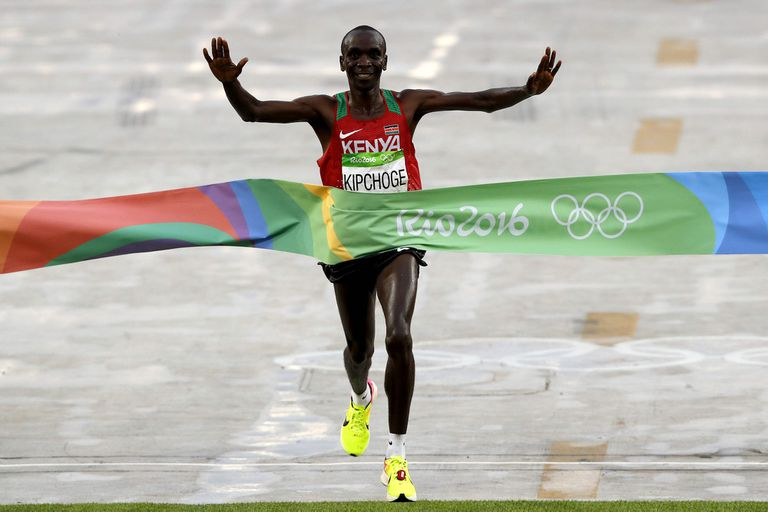 El día en que Kipchoge ganó el maratón de los Juegos Olímpicos de Río de Janeiro 2016.