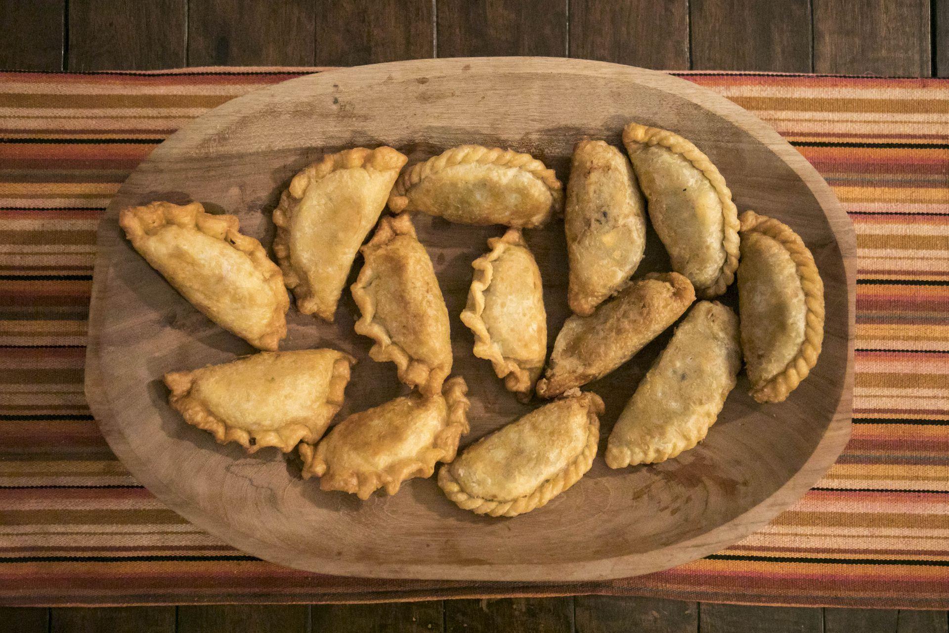 Empanadas fritas, clásico campero de la cocina de la estancia.