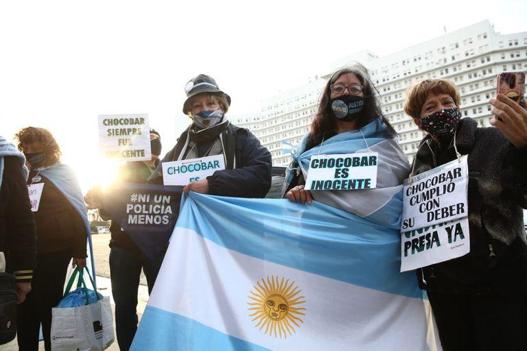 Manifestantes apoyaron a Luis Chocobar