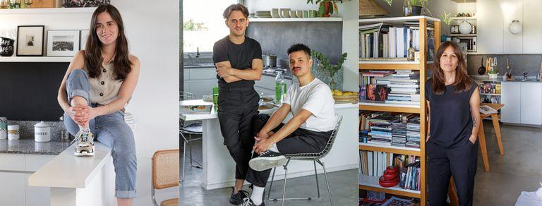 Pocos metros. Tres vecinos abren sus deptos de estilo minimalista en Chacarita