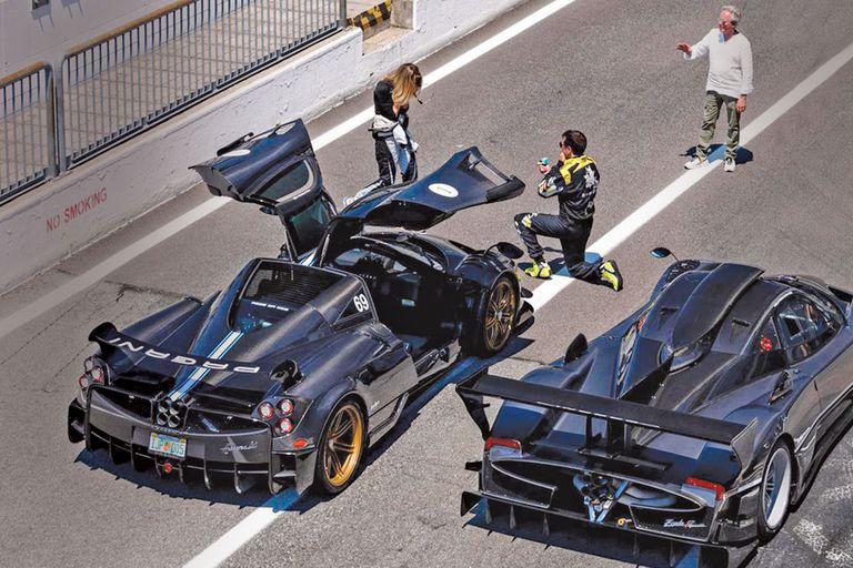 El original pedido de mano de Pablo en el autódromo de Monza (Italia) a comienzos de junio