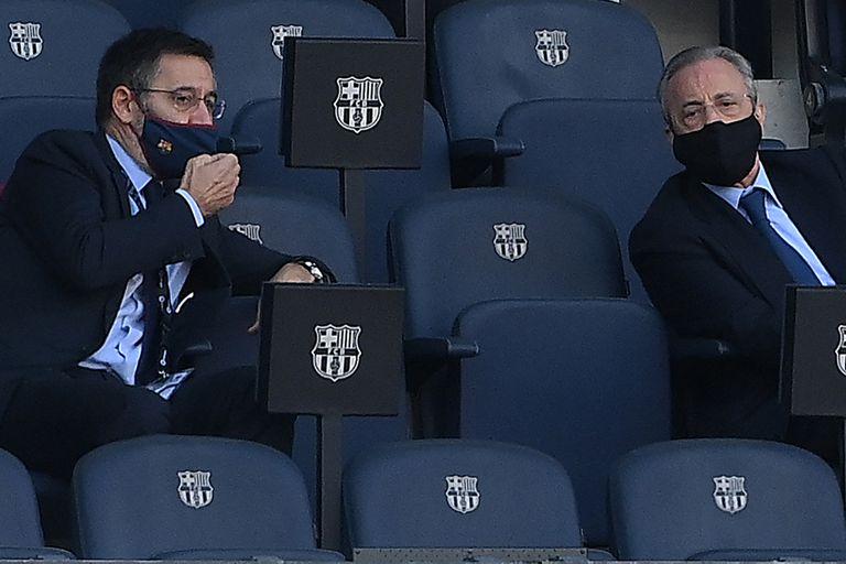 Bartomeu, el sábado pasado, junto a Florentino Pérez, su ahora ex colega de Real Madrid
