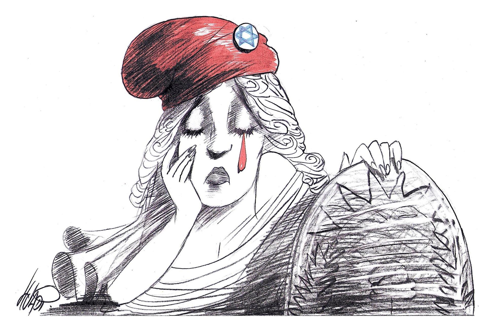 Ilustración publicada en el contexto de la investigación por el atentado a la AMIA, en 2015. El autor fue reconocido con el premio SIP