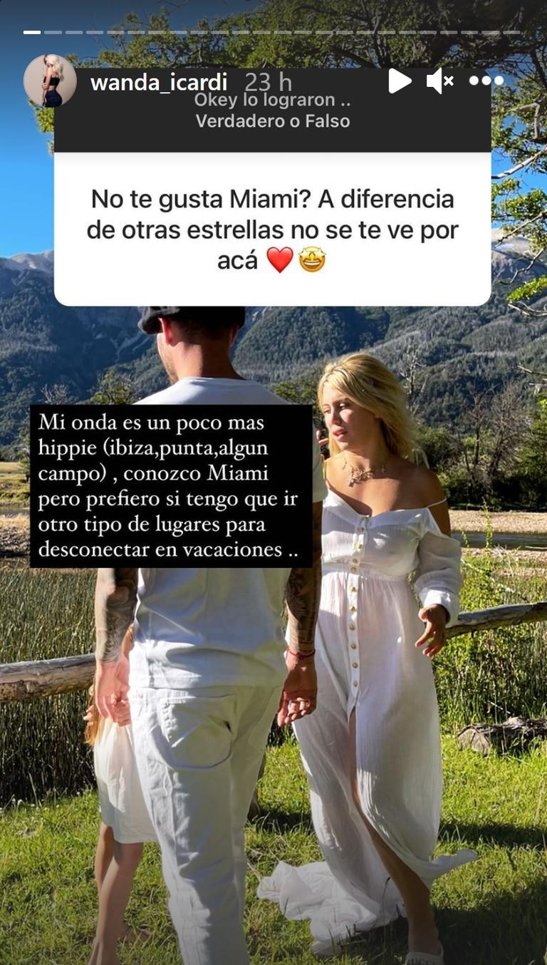 Wanda Nara explicó por qué no elige Miami para vacacionar (Instagram)