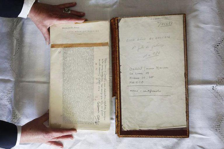 La primera página de las pruebas de imprenta de la novela Cien años de soledad