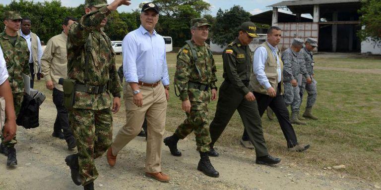 El presidente Duque a su llegada a Cúcuta