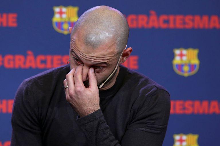 Así fue la despedida de Mascherano, quien no aguantó la emoción y se quebró