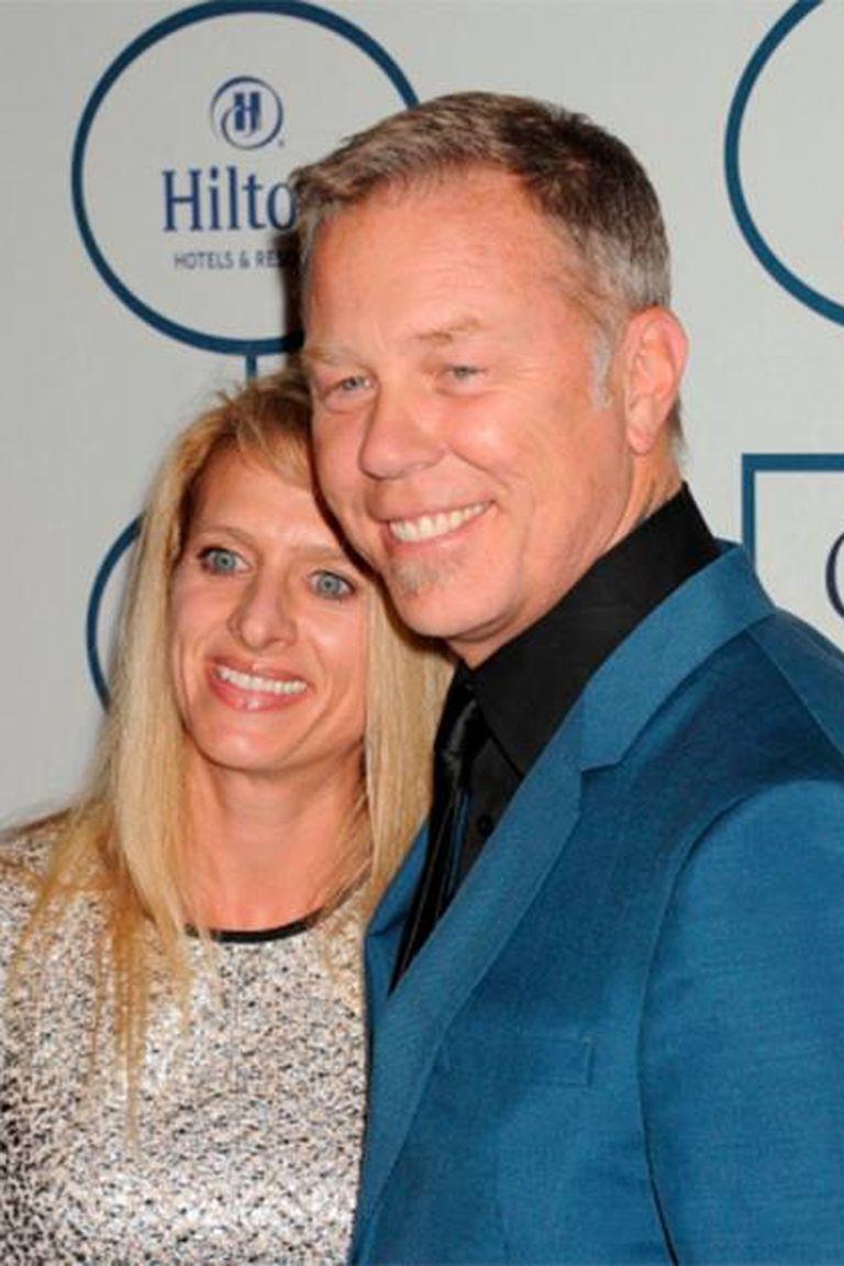 James Hetfield y Francesca Tomasi, unidos desde los años 90