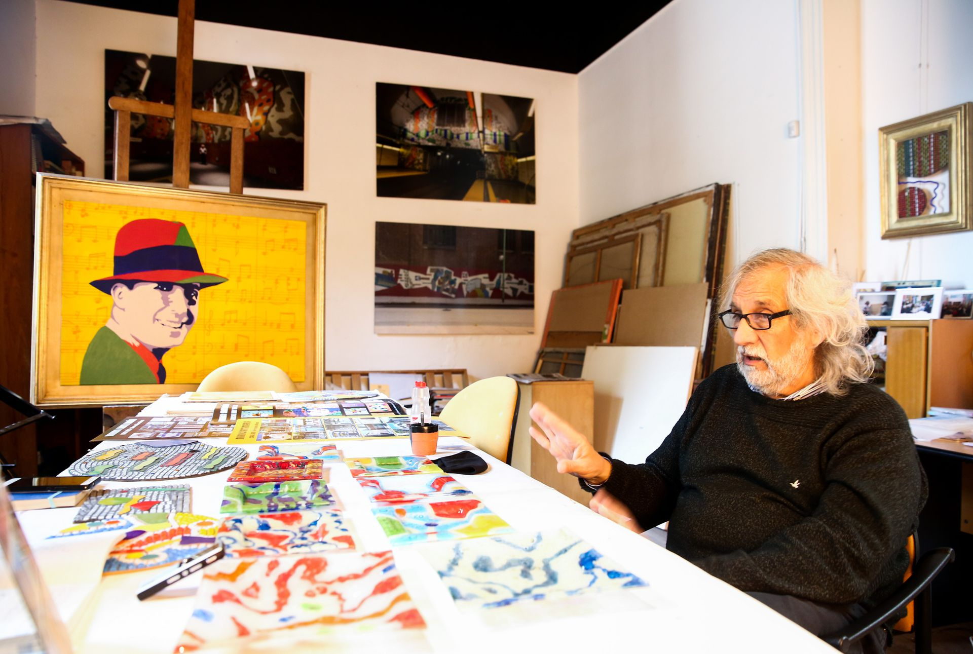 Nacido en el propio pasaje Lanín, Marino Santa María pasó su infancia en la casa donde hoy funciona su taller