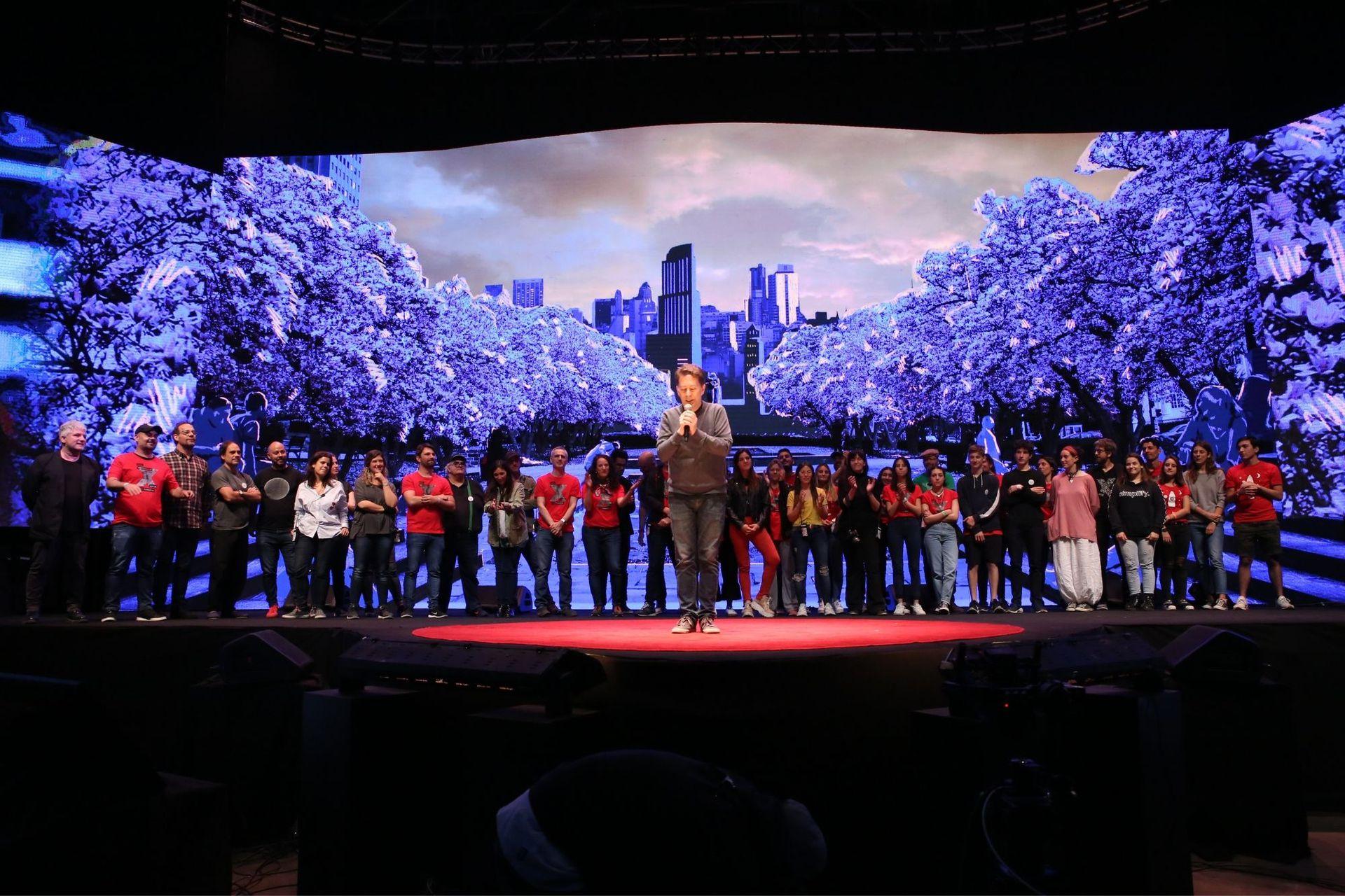 El equipo entero de TEDxRíodelaPlata Diez Años en Tecnópolis