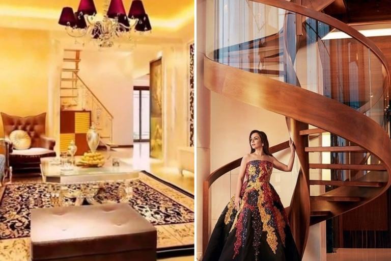 La residencia está llena de lujos