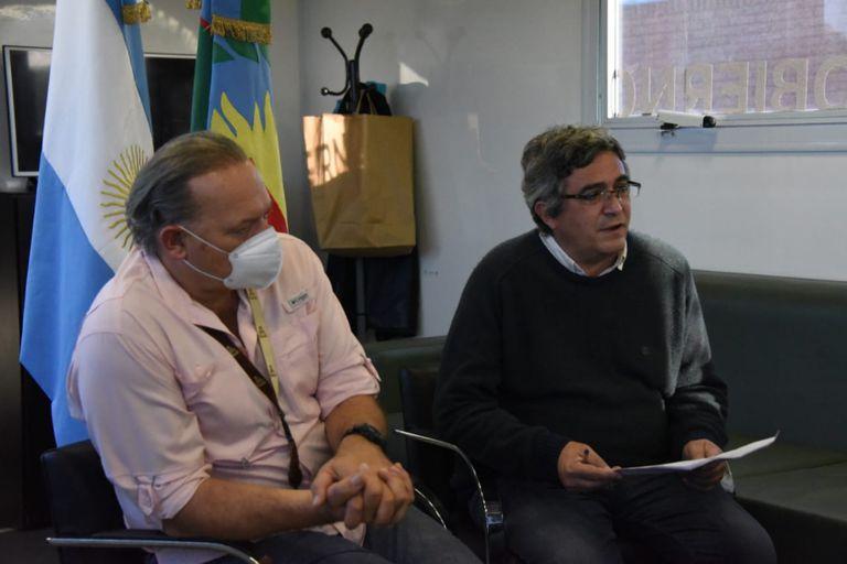 Los ministros Sergio Berni y Javier Rodríguez