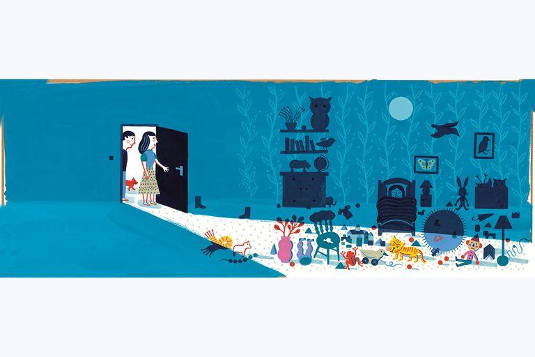 """En """"Sueños en la noche"""", Laurent Moreau relata con imágenes una sensación muy común en la infancia: el miedo a la oscuridad"""