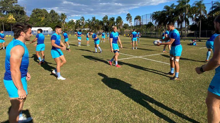 Los Pumas se entrenan en Australia con miras a la cuarta fecha del Rugby Championship, que este sábado los enfrentará nuevamente con Nueva Zelanda.