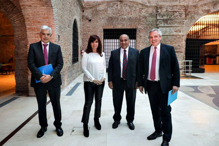 Julián Domínguez, Cristina Kirchner, Juan Manzur y Alberto Fernández