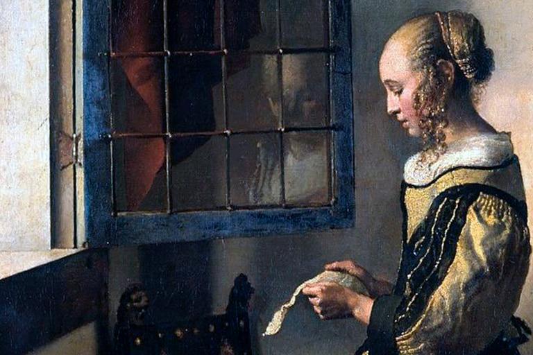 """""""Muchacha leyendo una carta en la ventana abierta"""", obra de Johannes Vermeer (1657-59)."""
