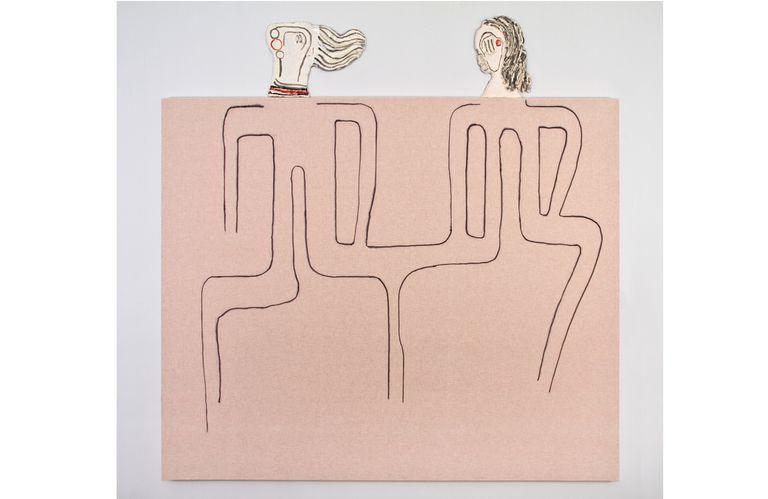 Obra de Juan Tessi exhibida en el Malba