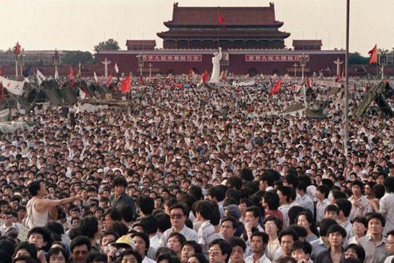 Las protestas en la plaza de Tiananmen en 1989