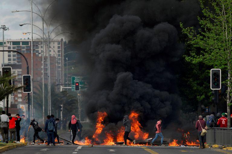 Las protestas en Santiago