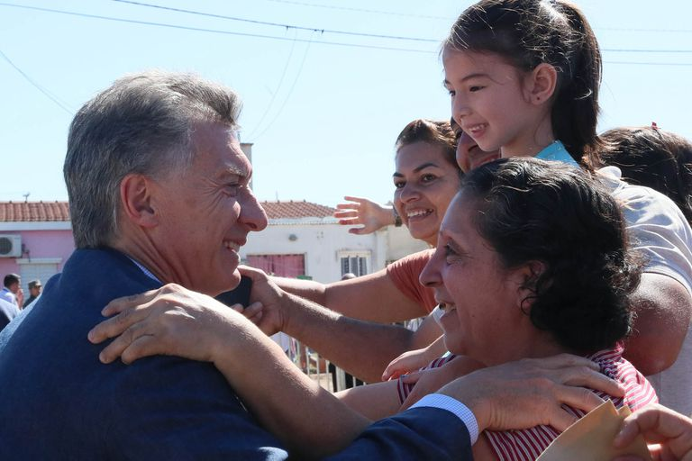 Con Stanley, Macri visitó Quimilí, a 80 kilómetros de la frontera con Chaco
