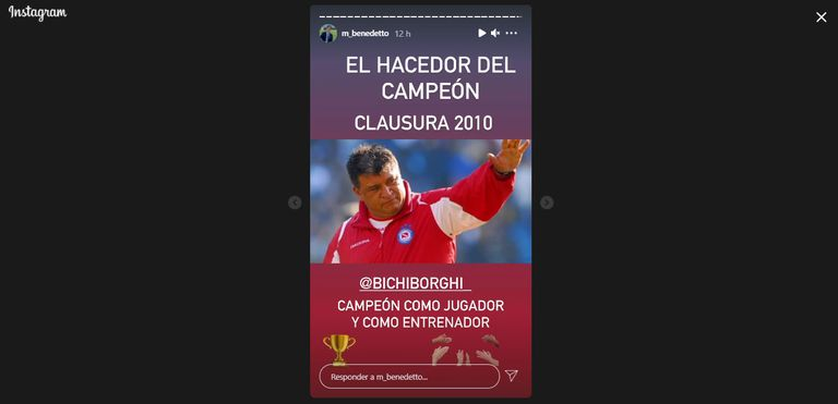 Marcelo Benedetto recordó al Argentinos Juniors campeón del Clausura 2010, dirigido por Claudio Borghi