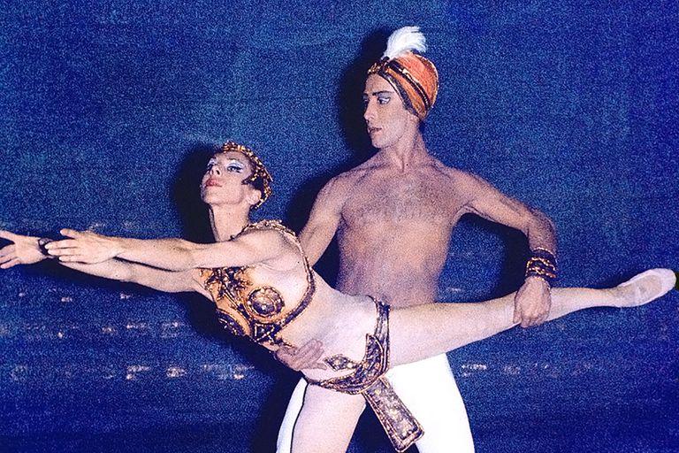 Con Norma Fontenla, en sus años del Colón