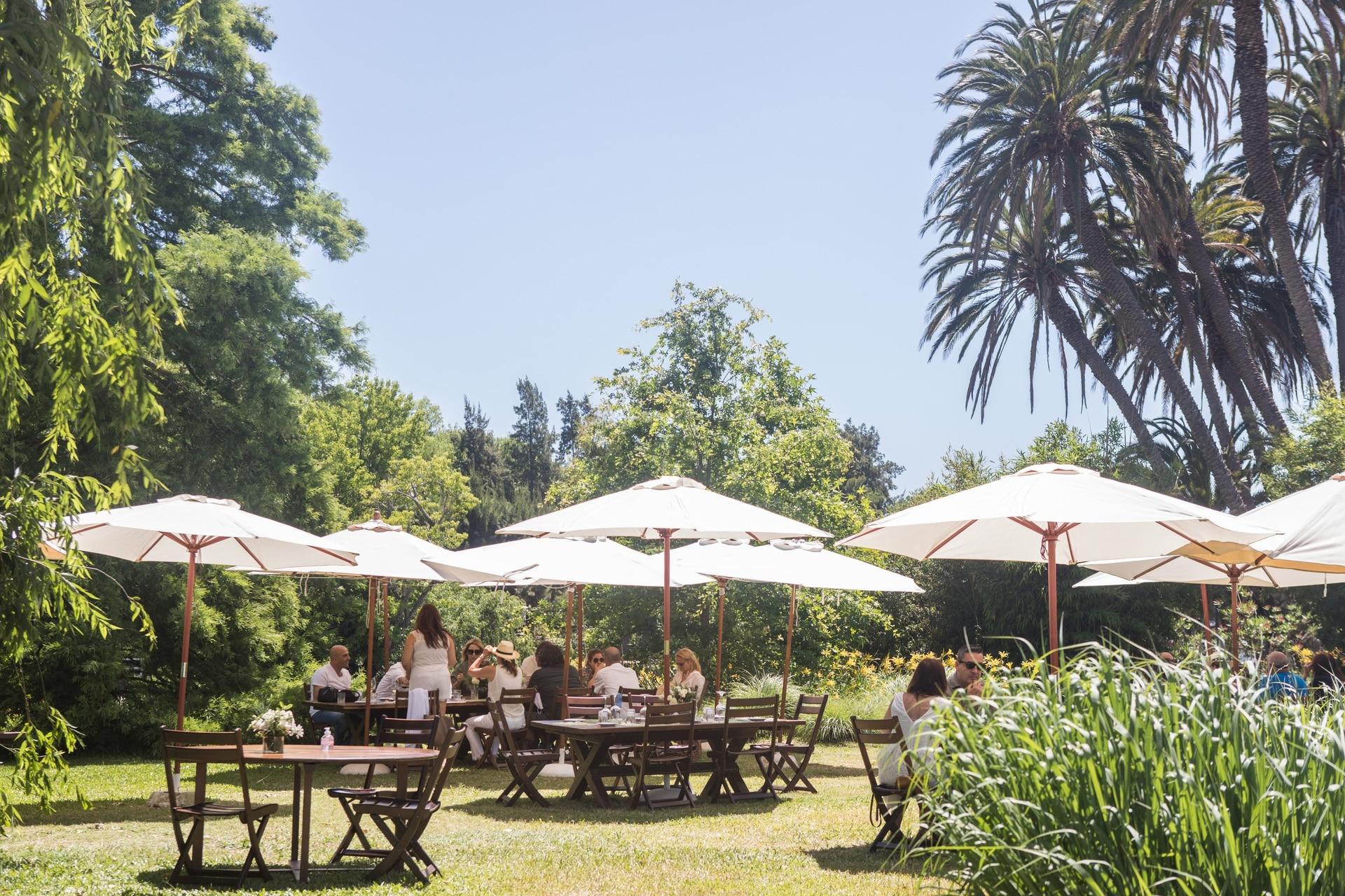 La isla es ideal para un almuerzo rodeado de arte y naturaleza.