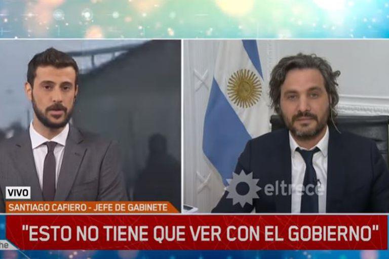 El cruce entre el periodista Diego Leuco y el jefe de gabinete, Santiago Cafiero