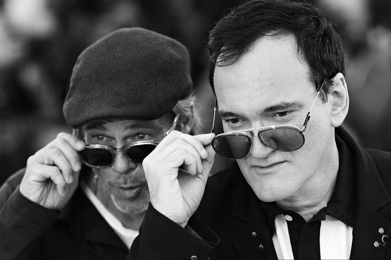 Quentin Tarantino junto a Brad Pitt, una de las grandes figuras de su nuevo film