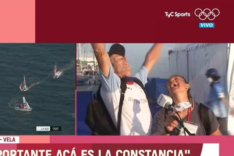 La reacción de Santiago Lange y Cecilia Carranza en vivo cuando los Pumas ganaron la medalla