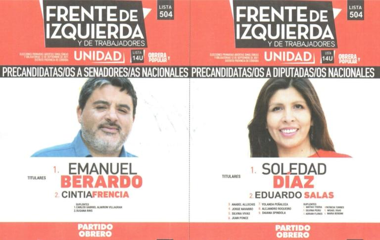 La lista 504 del Frente de Izquierda y de los Trabajadores Unidad competirá en internas en Córdoba.