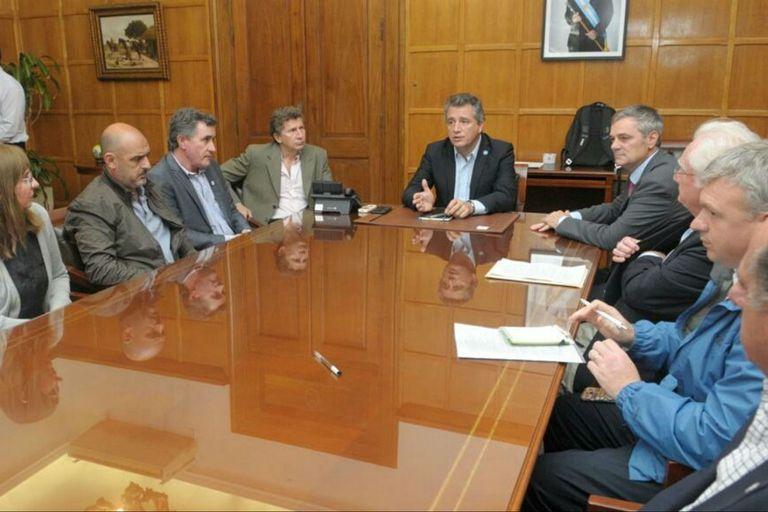 Etchevehere encabezó el encuentro con dirigentes del sector