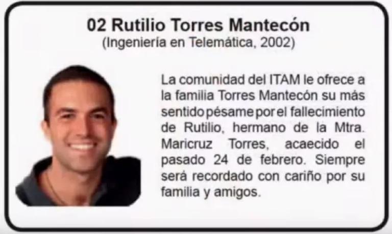 Rui Torres y su familia eran conocidos en la comunidad del Instituto Tecnológico Autónomo de México.