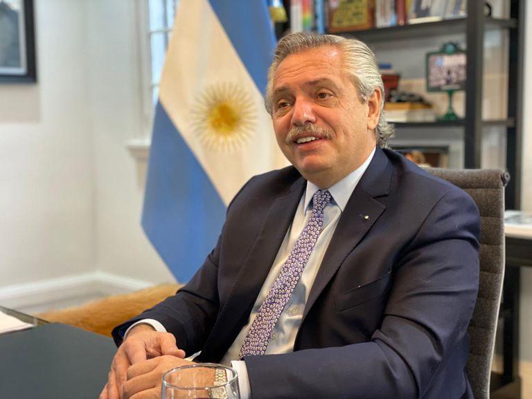 El presidente Alberto Fernández