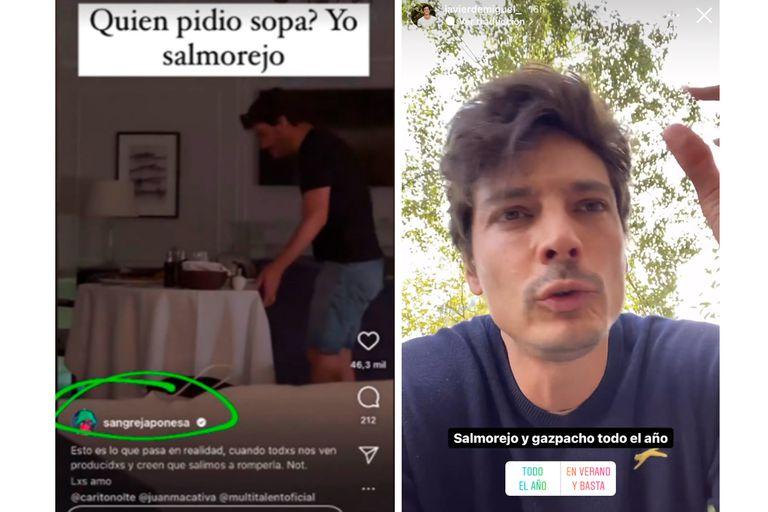 """La China Suárez y """"la coincidencia"""" con el modelo español Javier de Miguel"""