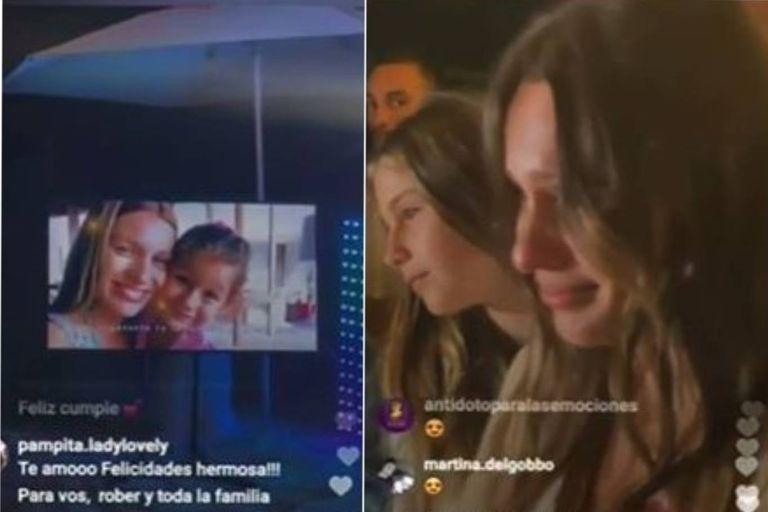 Las lágrimas de Pampita al ver un video de Blanca en el anuncio de su embarazo
