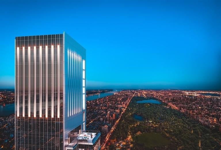 Central Park Tower, el edificio más alto del año pasado con 472 metros y las mejores vistas de la ciudad de Nueva York