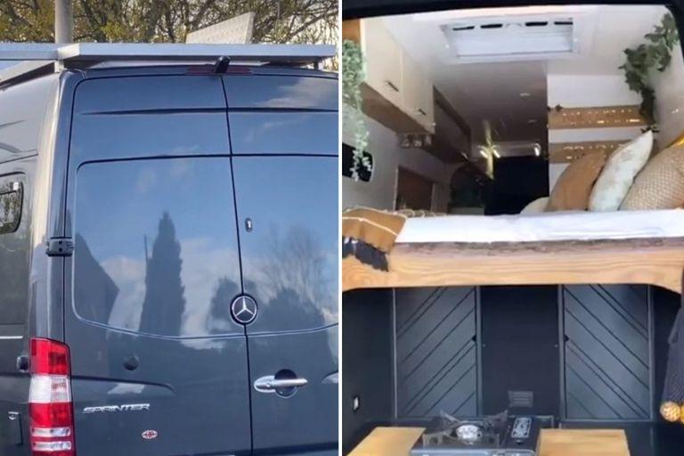Una camioneta Sprinter puede convertirse en un compacto alojamiento para salir de viaje