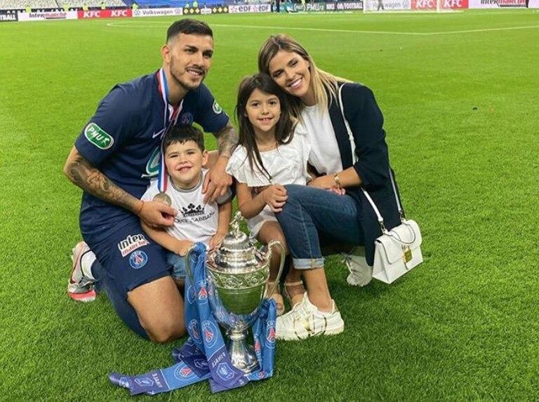 Leandro Paredes y Camila Galante tiene dos hijos.