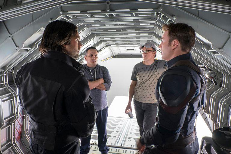 Joe y Anthony Russo durante el rodaje de Capitan América