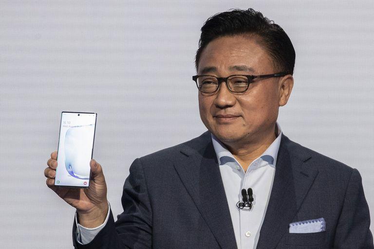 DJ Koh, presidente y CEO de Samsung Electronics, durante la presentación del Galaxy Note 10 en Nueva York