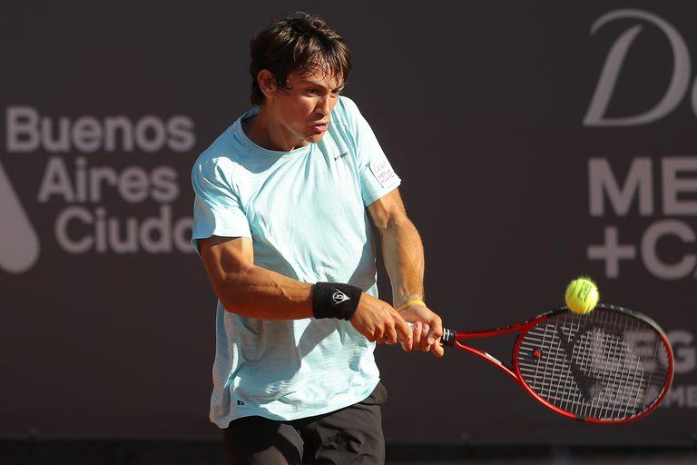 Mariano Navone, la agradable sorpresa en la primera jornada del Challenger Buenos Aires